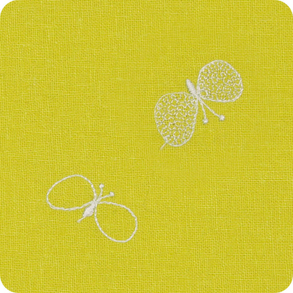 48 mina perhonen Linen Embroidery L | Choucho Yellow