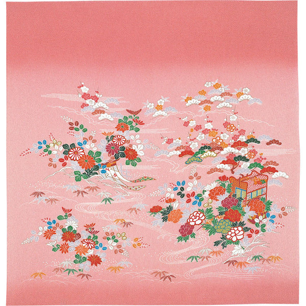 68 Silk Chirimen Yuzen Dyeing No.9 (Medium weight) | Gosho-Doki Rose