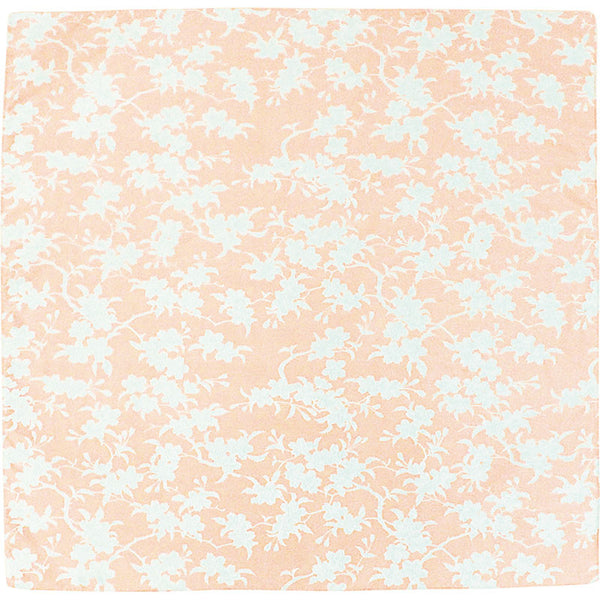 70 KARACHO Silk Jacquard | Sakura & Leaves Orange/Green