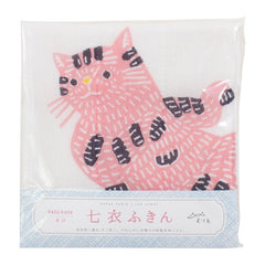 kata kata Tea Towel | Cat Pink