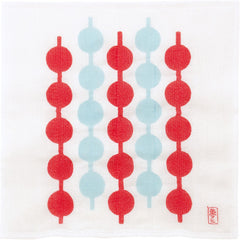 Yumeji Takehisa Tea Towel | Tunagi Dango Red