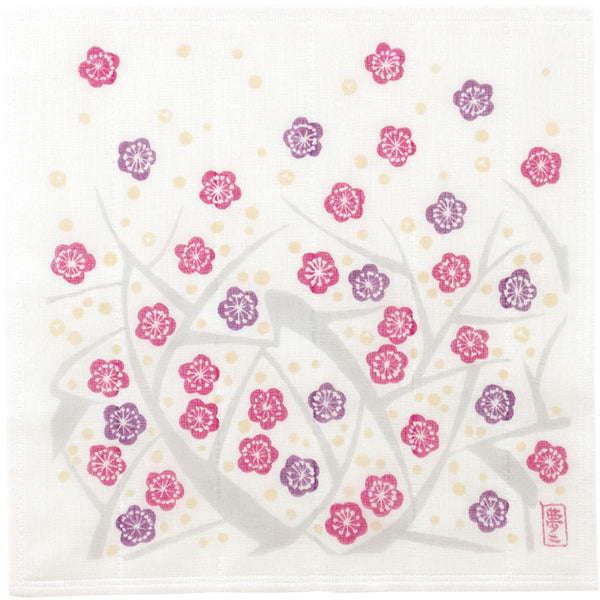 Yumeji Takehisa Tea Towel | Japanese Apricot Purple