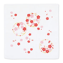 Gauze Handkerchief | Japanese Plim Red