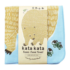 kata kata Fluffy Towel | Bear & Bird Blue