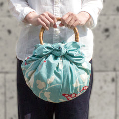 Furoshiki Bag Rings (Handles) | Rattan Natural