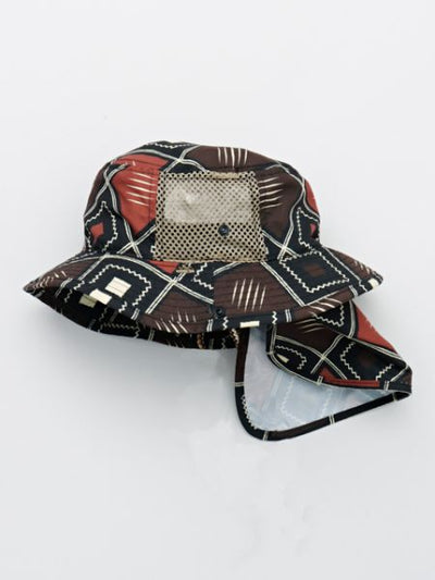 African Fabric Pattern Kids Safari Hat
