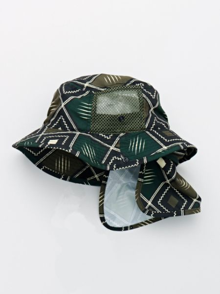 African Fabric Pattern Kids Safari Hat-Ametsuchi