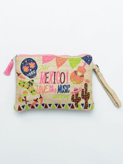 Mexican Jute Clutch Bag-Ametsuchi