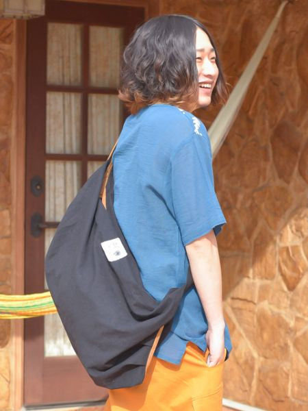 Simple Cotton Messenger Shoulder Bag-Ametsuchi