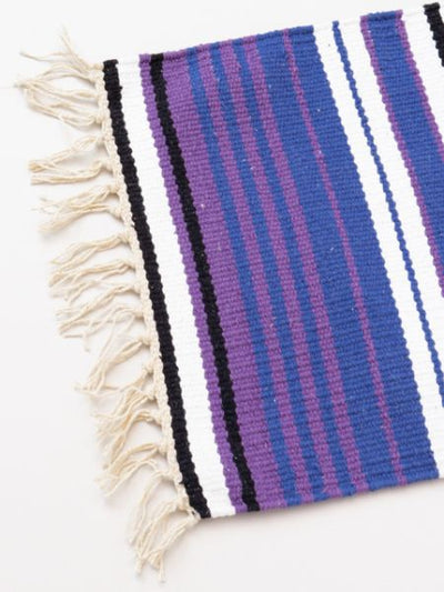 Mexican Sarape Inspired Hand Woven Table Runner-Rugs-Ametsuchi