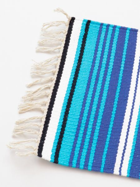 Mexican Sarape Inspired Hand Woven Table Runner