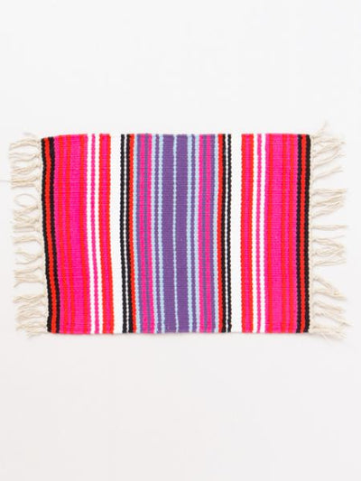 Mexican Sarape Inspired Hand Woven Placemat-Kitchen Goods-Ametsuchi