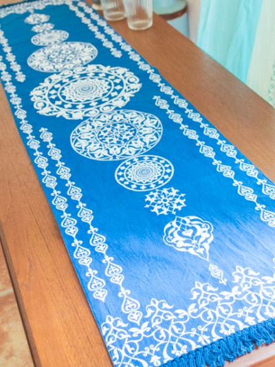 Morrocan Pattern Table Runner-Kitchen Goods-Ametsuchi