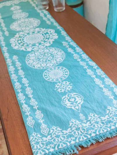 Morrocan Pattern Table Runner-Ametsuchi