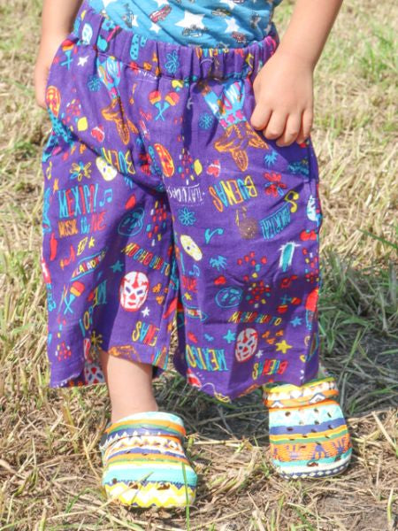 Kinder Bohemian Pattern STETEKO Pants 110cm-Clothing-Ametsuchi