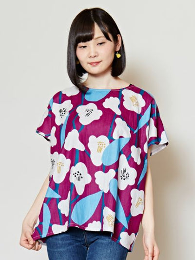 Modern Japanese Floral Top-Shirts & Blouses-Ametsuchi