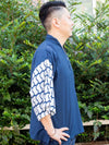 Japanese Pattern Sleeve Top-Ametsuchi