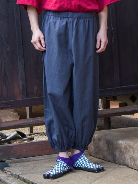 Japan Traditional Crest in Plain SAMUE Pants-Pants & Shorts-Ametsuchi