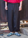 Japan Traditional Crest in Plain SAMUE Pants-Ametsuchi