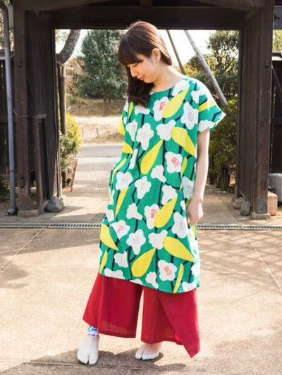 Modern Japanese Midi Dress-Dresses-Ametsuchi