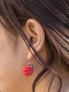 Dasi sutra murni-anting pewarna -Earrings-Ametsuchi