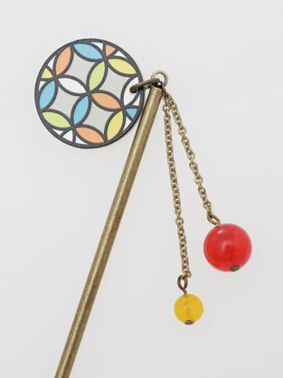 SHIPPO Stained Glass Inspired Hairpin-Hair Accessories-Ametsuchi