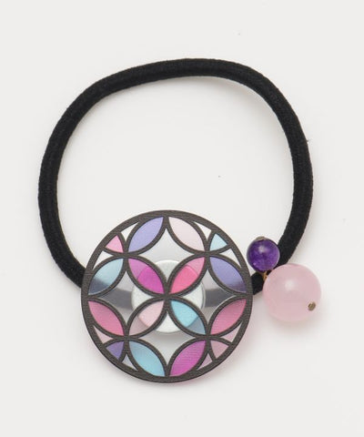 SHIPPO Stained Glass Inspired Hair Tie-Hair Accessories-Ametsuchi