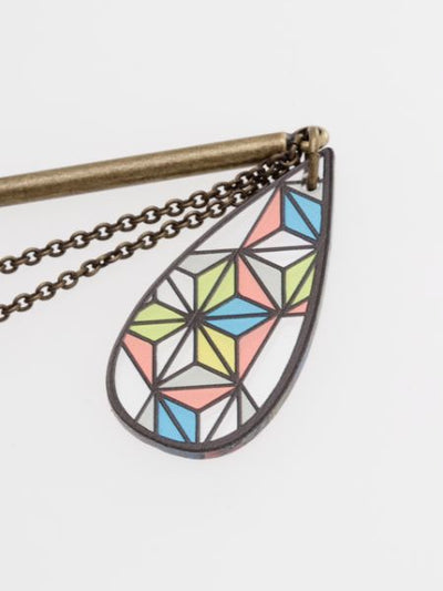 Hemp Stained Glass Inspired Hairpin-Hair Accessories-Ametsuchi