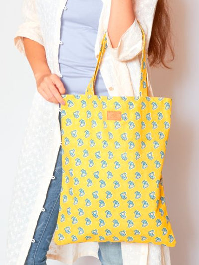 Provance Pattern Tote Bag-Ametsuchi