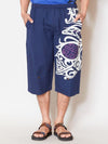 Feather Print SUTETEKO Shorts-Pants & Shorts-Ametsuchi