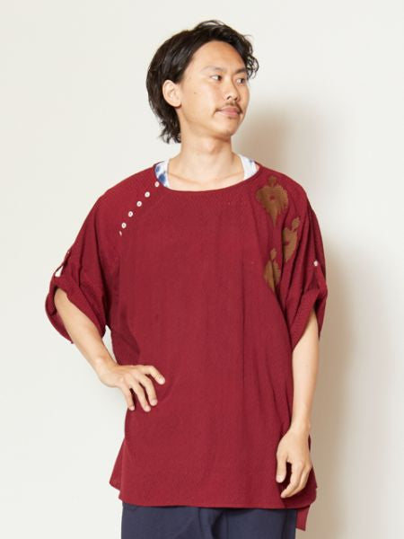 Folk Embroidereded Oversized Men's Top