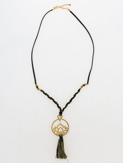 Lotus Fringe Necklace-Ametsuchi