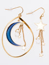 Aura Crescent Moon Earrings-Earrings-Ametsuchi