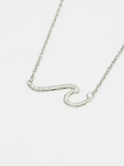 Wave Twin Metal Necklace-Ametsuchi