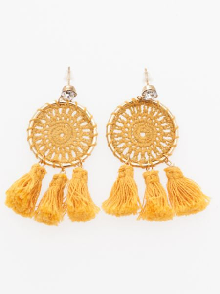 Crochet Fringe Earrings