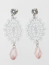 Lace & Drop Bead Earrings-Ametsuchi