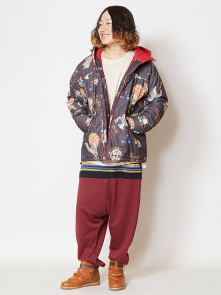 Sikl Road Motif Printed Men's Hoodie Jacket-Ametsuchi