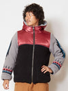 Patchwork Men's Hoodie Jacket with Navajo Pattern Sleeve-Ametsuchi