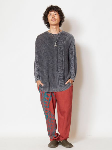 Acid Washed Knittd Top-Ametsuchi