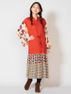 Retro Pattern Candy Long Sleeve Kaftan Dress-Ametsuchi