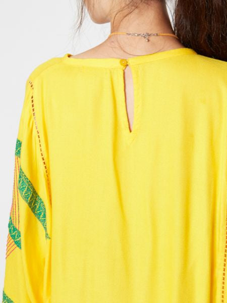 Embroidered Blouse with Volume Sleeve