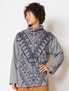 Ethnic Pattern Men's Zip Pullover-Tops-Ametsuchi