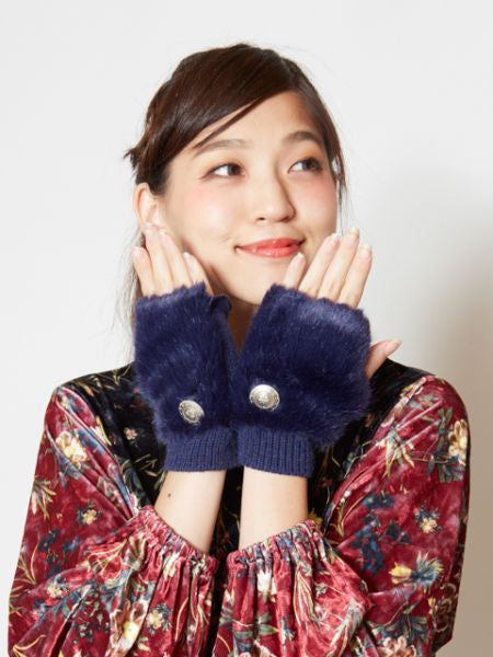 Fluffy Half Gloves-Ametsuchi