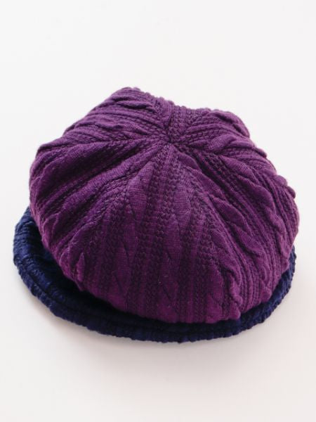 Bi Color Knitted Beanie-Caps & Hats-Ametsuchi