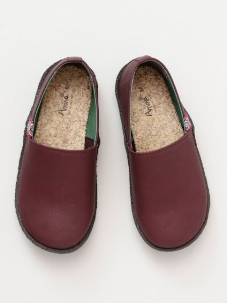 Faux Leather Slip On Shoes-Ametsuchi