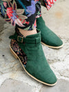 Gobelin Fabric Style Floral Short Boots -Shoes-Ametsuchi