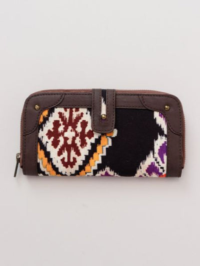 Printed Turkish Kilim Pattern Long Wallet-Bags & Purses-Ametsuchi