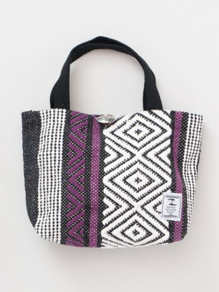 Hand Woven Cotton Mini Tote Bag