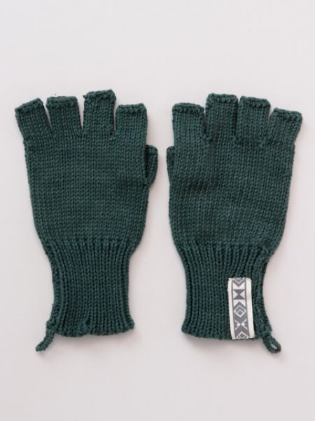 Knitted Cotton Half Gloves-Ametsuchi