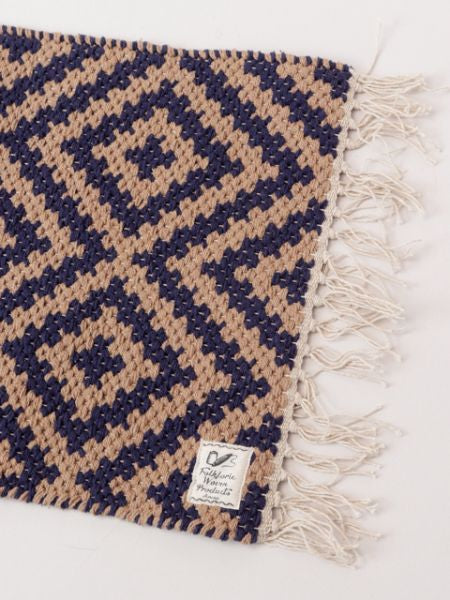 Handwoven Geometric Pattern Table Runner